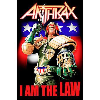 """פוסטר אנתרקס אני הלוגו של להקת החוק דגל טקסטיל רשמי חדש 70 ס""""מ x 106cm"""