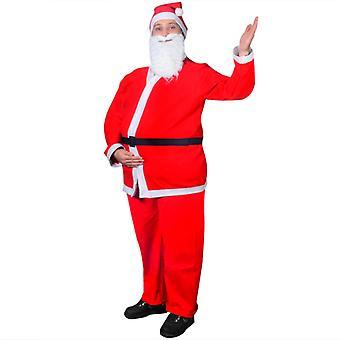 Świąteczny zestaw kostiumów Świętego Mikołaja