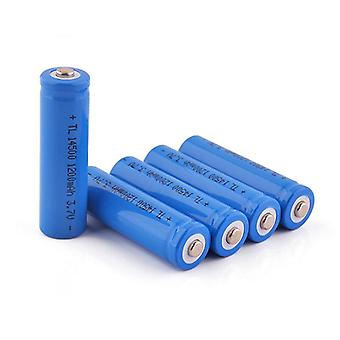 2pcs East Fire Aa 14500 1200mah 3.7 V Lithium Ion Rechargeable Batteries