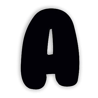 ブラックアルファベット文字バブルガムアクリルドアサイン - A