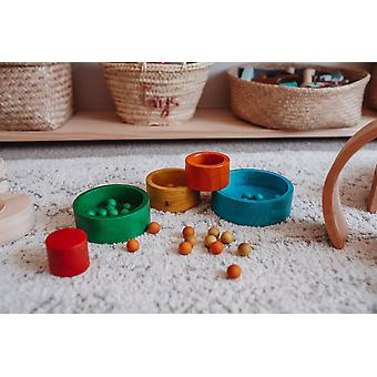 Qtoys Australia (usa) Natural Coloured Nesting And Stacking Bowls
