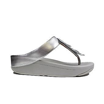 Fitflop Fino Silver Pelle Donna Punta Post Sandali