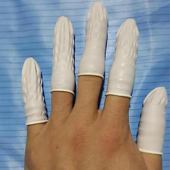 Finger Tips Protective White Small Rubber Gloves