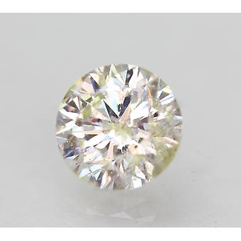 Certified 0.81 Carat H SI1 Round Brilliant Enhanced Natural Loose Diamond 5.91mm