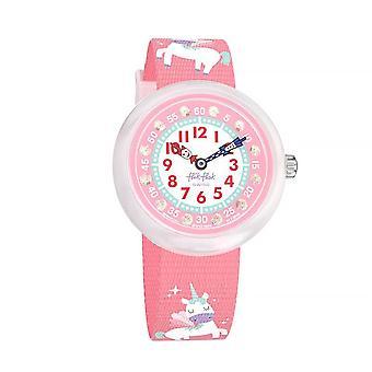 Flik Flak Fbnp121 Magical Dream Pink Unicorn Textile Watch