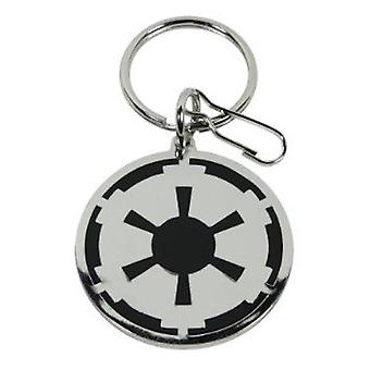 Star wars - empire logo metal keyring