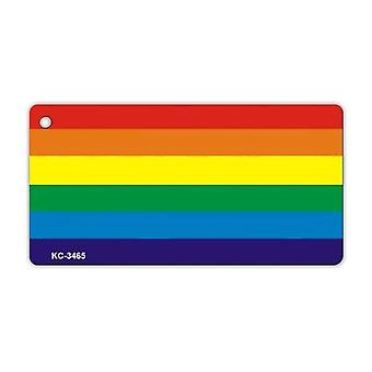 "Nøglering, Metal, Lgbt Rainbow Flag, Gay, Lgbtq+, 3"" X 1.5"""