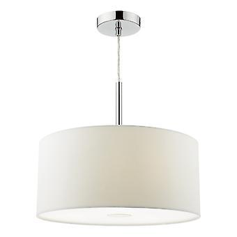 DAR RONDA Cylindrical Pendant Light 40cm Hvid, 3x E27