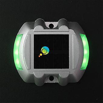 高輝度グリーンライトホースシュー形状3m反射器ソーラーロードスタッド