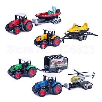 De Vrachtwagen van de Tractor van de Landbouwbedrijf van het speelgoed met Aanhangwagen, Plastic Matrijs Gegoten Metaalvoertuig, Model