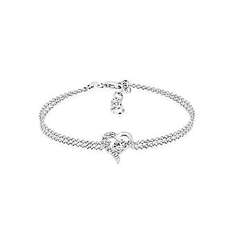 Elli Sterling 925 Zilveren Dames Armband met Swarvoski Heart Love Kristallen