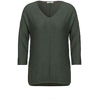 Cecil 315804 T-Shirt, Soft Khaki, X-Small Woman