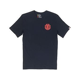 Element Unison Short Sleeve T-Shirt en Noir Flint