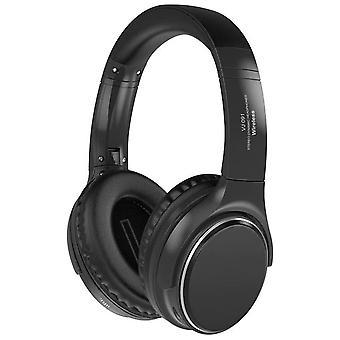 Zwarte Bluetooth 5.0 draadloze hoofdtelefoon HIFI Headset Sport Gaming opvouwbaar over oor Stereo TF-kaart