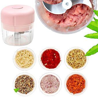 Mini Electric Food Chopper USB Meat Grinder Garlic Cutter Vegetable Shredder Dicer Fruit Juice 250ml