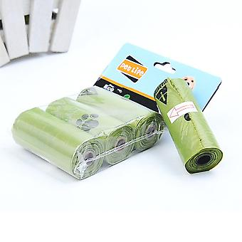 8 Rolls/box Dog Poop Bag Degradation Disposable Carton Pick Up Toilet Cat Waste Outdoor Clean Garbage Bags