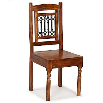 vidaXL sillas de comedor 4 piezas de madera maciza con acabado de palo de rosa