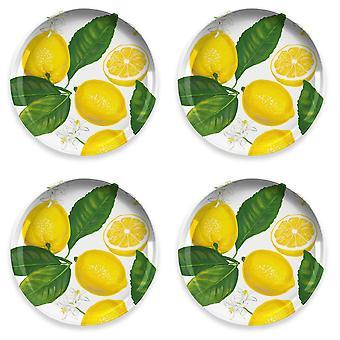Epicurean Lemon Fresh Set of 4 Melamine Side Plates