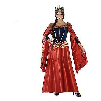 زي للبالغين 113916 ملكة القرون الوسطى الأحمر الأزرق البحرية