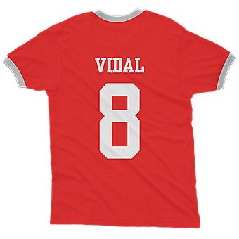 Arturo vidal 8 chile country ringer t-shirt