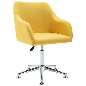 vidaXL bureau fauteuil pivotant jaune tissu