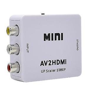 HDMI To AV 1080P Adapter-(3x RCA) NTSC/PAL Compatible(White)