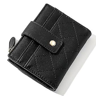 Ultra-thin multi-card slot pu card holder simple short ladies coin purse(Color-6)
