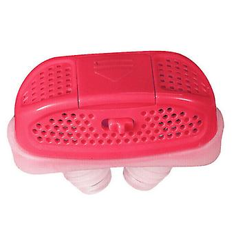 (Red) Mini-CPAP Anti Snoring Device Sleep Aid Apnea Stop Snore Stopper Nose-Machine