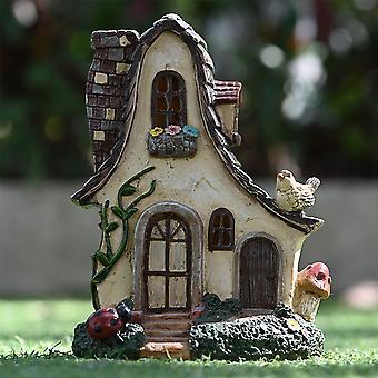 Garten Kleines Harz Feenhaus Ornament