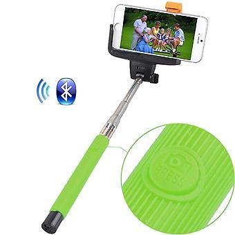 (Green) HTC U Ultra Universal Bluetooth Wireless Selfie Stick Monopod Built-in Remote Shutter Pocket Sized