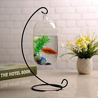 15cm opgeschorte transparante hangende glazen aquarium infusie fles aquarium bloem plant vaas