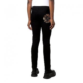 Versace Jeans Couture Skinny Fit Rear V-emblem Black Jeans