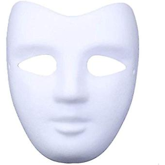 meioro DIY White Paper Mask Pulp Blank Hand Painted Mask Personality Creative Free Design Mask