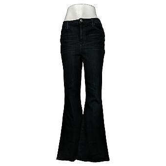 Skinnygirl Women's Jeans High Rise Flare Indigo Blue 681119