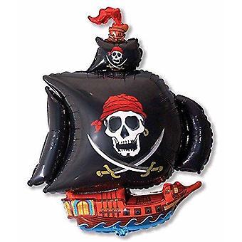 Ballons: Großer 38 Zoll Piratenschiff Ballon (flach zum Aufblasen geliefert)