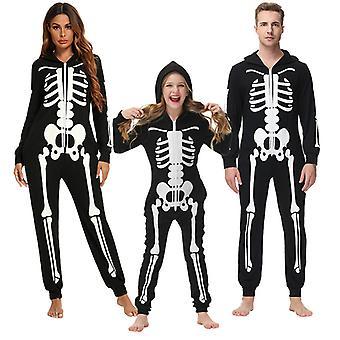 Rodinné Halloween kostýmy, kostra Kombinéza