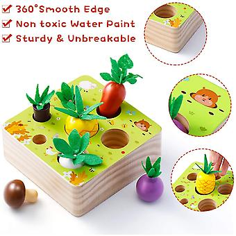Wooden Toy, Baby Motor Skills Toy For Boys And Girls, Happy Farm Montessori Toy Sorting Game Educational Toy For Children As A Gift