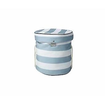 Faltbare Aufbewahrungstasche für Kinder spielzeug (graue und weiße Streifen)
