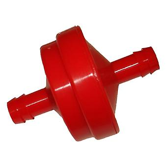 Red In Line, Inline Fuel Filter Fits Briggs And Stratton 298090 395018
