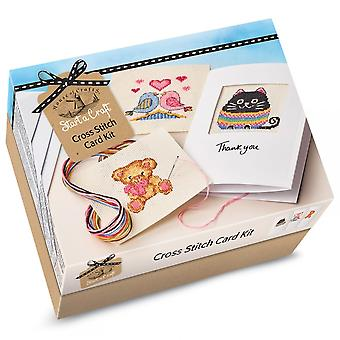 House of Crafts Start A Craft Cross Stitch Card Kit