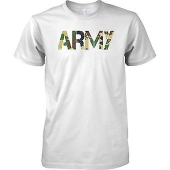 Armée - CamouFlage DPM mots - soldat militaire - Mens T Shirt