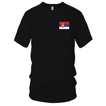 Drapeau National du pays de Serbie - Logo - brodé 100 % coton T-Shirt Kids T Shirt