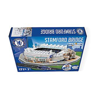 Stamford Bridge Chelsea Stadium 3D Model Jigsaw Puzzle (171 Pieces)
