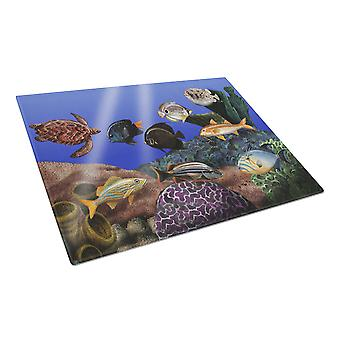 Carolines skatter PTW2028LCB Undersea Fantasy 1 glas skärbräda stor