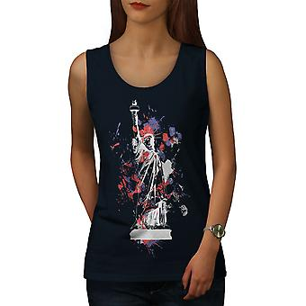 Statue Freedom New York Women NavyTank Top | Wellcoda