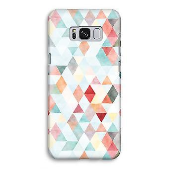 Samsung Galaxy S8 volledige Print geval (Glossy) - gekleurde driehoeken pastel