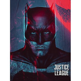 Batman Poster Movie Justice League Art Print (18x24)