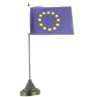 Euroalueen Blue Star taulukon lippu kiinni ja pohja