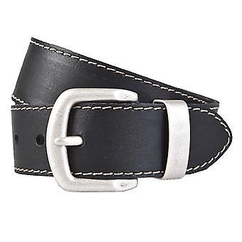 BERND GÖTZ belts men's belts leather belt leather black 716