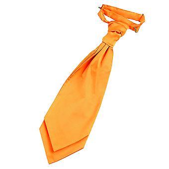 Fluorescerend oranje platte satijnen vooraf gebonden bruiloft Cravat